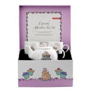 Typhoon Teapot Cup Cakes teesetti