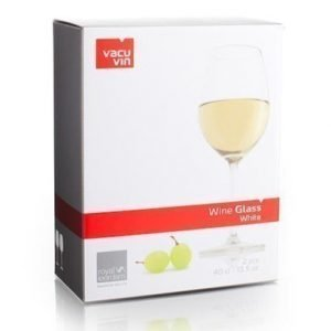 Vacuvin Wine Glass White 2 kpl