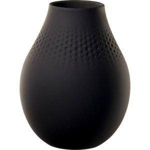 Villeroy & Boch Collier Noir Perle Vaasi Korkea Musta
