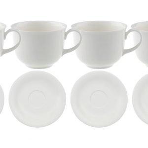 Villeroy & Boch Home Elements Kahvikuppi + Aluslautanen 6 Kpl