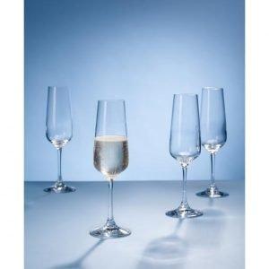 Villeroy & Boch Ovid Champagne Flute Samppanjalasi Kirkas 4 Kpl