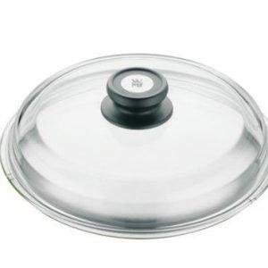 WMF Lasikansi mustalla nupilla Ø 24 cm
