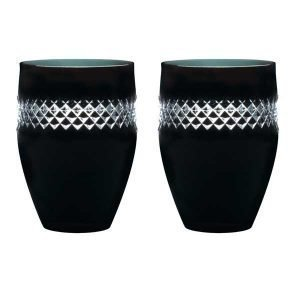 Waterford Black Cut Tumbler Lasi Musta 2 Kpl