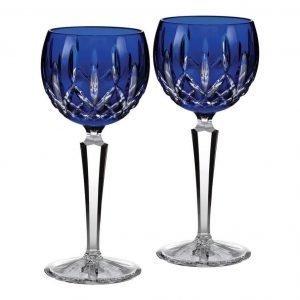 Waterford Lismore Cobalt Barware Viinilasi 2 Kpl