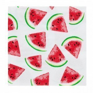 Watermelon Paperiservetit Vadelma