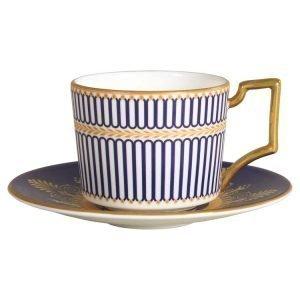 Wedgwood Anthemion Blue Espressolautanen Iconic