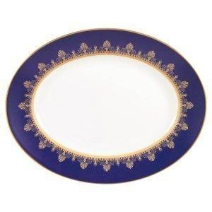 Wedgwood Anthemion Blue Ovaali Lautanen 35 Cm