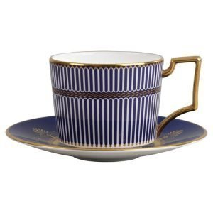 Wedgwood Anthemion Blue Teekuppi Iconic 220ml