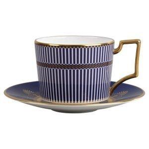 Wedgwood Anthemion Blue Teekuppi Iconic 220ml
