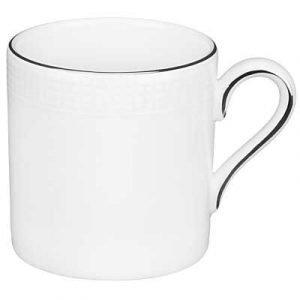 Wedgwood Blanc Sur Blanc Kahvikuppi Bond Ilman Aluslautasta 0