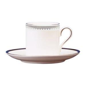 Wedgwood Grosgrain Kahvikuppi Bond Valkoinen 0