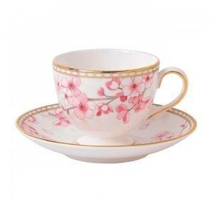 Wedgwood Spring Blossom Teekuppi Ja Lautanen Leigh