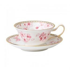Wedgwood Spring Blossom Teekuppi Ja Lautanen Peony