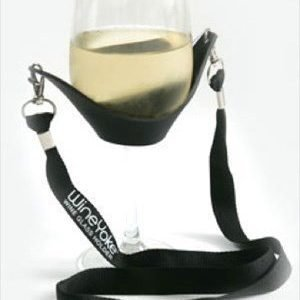 WineYoke Wine Yoke black- Viinilasin säilytystasku