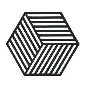 Zone Denmark Pannunalunen Hexagon Musta 16x14 cm