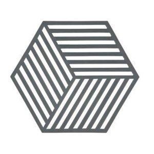 Zone Denmark Pannunalunen Hexagon Silikoni Harmaa 16x14 cm