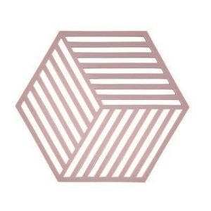 Zone Denmark Pannunalunen Hexagon Silikoni Rosa 14 cm