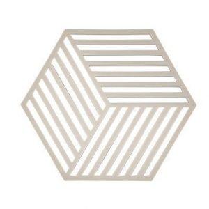 Zone Denmark Pannunalunen Hexagon Silikoni Tummanharmaa 16x14 cm