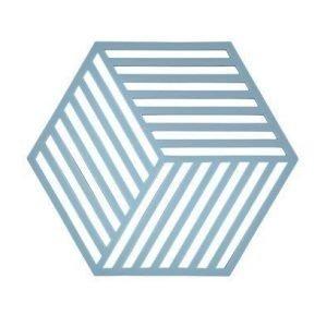 Zone Denmark Pannunalunen Hexagon Silikoni sininen 16x14 cm