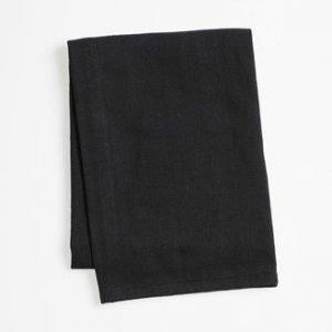 Zone Denmark Pyyhe kahvalla Musta 70x50 cm